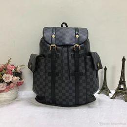 Wholesale Zipper Side Bag - 2017 NEW Spring Stark Stud Visetos Backpack Medium Size Cognac (Brown) Color Side Rivets Shoulder Bag size for #L89879
