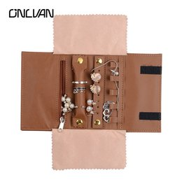 Wholesale Leather Jewelry Pouches - Leather Bags Onlvan Cosmetic Bag Women Small Makeup Organizer Make Up Case Travel Jewelry Pouches Toiletry Storage Wash Pouch