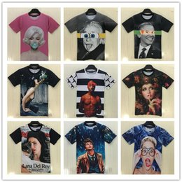 Wholesale Wholesale Bob Marley T Shirts - NEW SALE t shirts for men Europe 3D printing characters Monroe Bob Marley T-shirt lovers personality spoof T-shirt