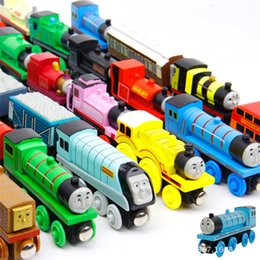 Wholesale Motorcycle Tank Decorations - DHL Free Shipping Wooden Christmas Xmas Train Decoration Decor Gift Mini Christmas Train Wooden Train Model Vehicle Toys for Children