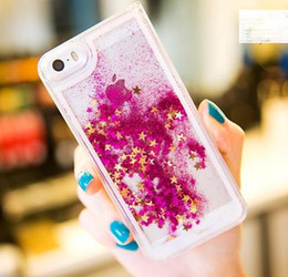 Wholesale S4 Quicksand Case - New Floating Glitter Star Running Case Quicksand Liquid Dynamic Hard Case Shining Cover For iPhone 4 5 6 6S Plus Samsung S4 S5 S6 Note 3 4