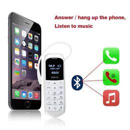 Wholesale Bt Micro - Original mini BT LONG-CZ J8 Magic voice bluetooth dialer cellphone FM radio mini cell bluetooth 3.0 earphone long standby mobile phone