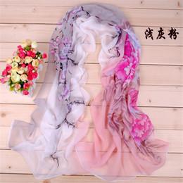 Wholesale Graceful Shawls - Loop Chiffon Long Soft Flower Scarf Wrap Shawl Stole For Graceful Lady SJ0381 Free Shipping