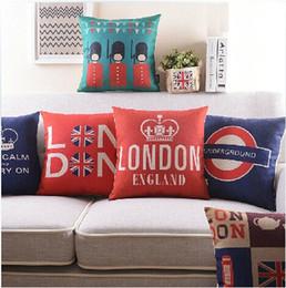 Travesseiro inglaterra on-line-Venda quente Londres Inglaterra Capas de Almofada Soldado de Alta Qualidade Manter A Calma e Continuar Fronha 45X45 cm Casa Quarto Decoração Presente