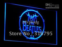 Wholesale Beatles Drum - c013-b The Beatles Band Music Drums Neon Light Signs