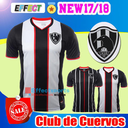 Wholesale Best Red Wines - 2017 Mexico Club de Cuervos Nueva Temporada Soccer Jerseys 17 18 Crows Maillot de foot 2018 Home Away Best Quality Football Shirts