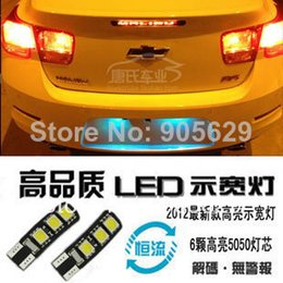 Wholesale Chevrolet Cruze Tail Lamp - sedan hatchback LED T10 W5W clearance lamp light and License plate lamp with canbus for Chevrolet cruze 2010 2012 2013