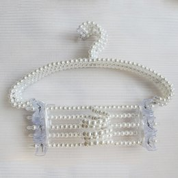 Wholesale Plastic Can Tops - Free shipping 200pcs lot pearl beaded hanger can anti-slip hanging women clothes and it very beautiful