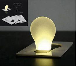 10 шт./лот творческий дизайн Портативный мини карманный светильник складной красочные светодиодные карты свет модные светодиодные рождественские карты свет как освещение подарки от Поставщики дети йо-йо