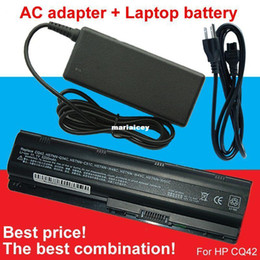 Wholesale Hp G6 Laptop Battery - High quality- HOT- 1pcs laptop battery + 1pcs AC Adapter For HP Presario CQ32 CQ42 CQ43 CQ56 CQ62 G32 G42 G56 G42t G62 G72 Pavilion g4 g6 g7