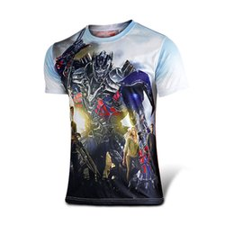 Wholesale 2015 New Transformers Optmus Prime Collage Official Printed T Shirt New Todd Mcfarlane Spawn Hell Demon Night Fighter Printed Rock Mens Tee