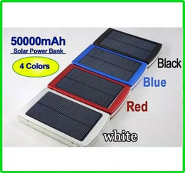 Wholesale Solar Charger Emergency Power Cell - Portable 50000mah Solar Charger Battery 50000 mAh power bank Backup Dual Charging Ports Emergency External Battery Charger for Cell phone