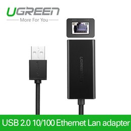 Wholesale Tablet Ethernet Adapter Android - Ugreen USB Ethernet 10 100 Mbps Rj45 Lan card Adapter For Mac OS Android Tablet pc Laptop Smart TV Win 7 8 XP Network Card