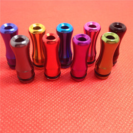 Wholesale Ego Cartomizers - 510 EGO Metal Drip Tip Aluminum Metal Mouthpiece 510 Atomizer Mouthpiece for E Cigarette Vivi Nova 510 DCT Cartomizers DHL
