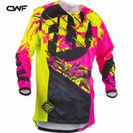 Wholesale Bmx Jersey Xl - Motocycle Clothing Men Motorcycle Shirts BMX DH MX Mountain Bike Moto Jersey 4 Styles Motocross Bike Breathable Mens Shirt