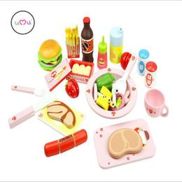 ollas de juguete de metal Rebajas Venta al por mayor - [Umu] 3 estilos Desayuno occidental Almuerzo cena Cocina Juego de imaginación Juguetes de cocina para niños Jugar Gouse Regalo educativo del juguete