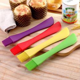 Wholesale silicone mixer - Silicone Spatula Spoon Brush Cake Cream Scraper Baking Scraper Spatulas Pastry Scraper Mixer Butter Baking Tools OOA3506