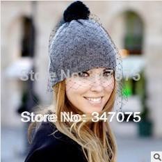 Wholesale Nets Wool Winter Hats - Wholesale-Fashiom hat supermodel veil street snap net yarn knitted cap wool hat autumn winter Hats For Women Women's Beanies wholesale