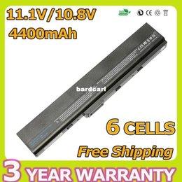 Wholesale Asus K42 Battery - Free shipping- 6 cells laptop battery for ASUS K42 K52 A52 A52F A52J A31-K52 A32-K52 A41-K52 A42-K52 4400mah 11.1v