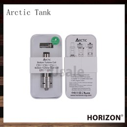 Wholesale Electronic Cigarette Sub - Horizon Arctic Tank 0.2 0.5ohm 3ml Arctic Sub ohm Electronic Cigarette Atomizer With BTDC 30w - 100w VS Atlantis Subtank Plus 100% Original