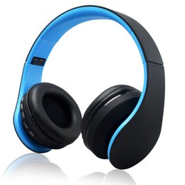 Wholesale Digital Stereo Headphones - High quality copy Andoer Digital 4 in 1 Stereo Bluetooth 3.0 + EDR Headphones Wireless Headset Music with Micphone for iphone Samsung