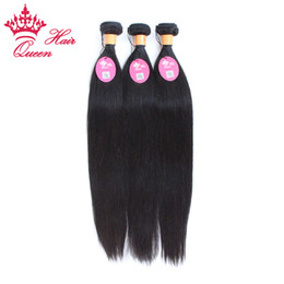 Wholesale Indain Human Hair - Queen Hair Indain Virgin extensions,100% human hair Straight queen hair weave, 3pcs lot 12-28inch