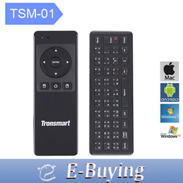 Wholesale Tronsmart Air Mouse Remote - Wholesale-Tronsmart TSM-01 Ultra 6 Axial Gyro Keyboard Russia Air Mouse 2.4GHz Wireless Remote Control For TV Box Mini PC Game Accessories