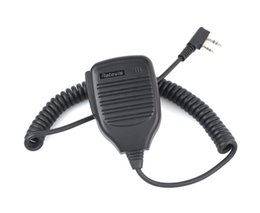 Wholesale Kenwood Speaker Mic - Wholesale-2 PIN Retevis Handheld PTT Speaker Mic FOR QUANSHENG PUXING WOUXUN TYT BAOFENG KENWOOD Radio C9001A