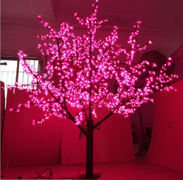 Wholesale Led Cherry Tree Decoration - 1536LEDS 200cm outdoor led cherry blossom tree light for christmas led christmas tree lights decoration LLFA