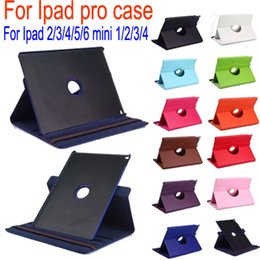 Wholesale Purple Ipad Mini Case - 360 Rotating Magnetic Stand Leather Case for Apple Ipad 2 3 4 air air2 mini 4 ipad Pro Retina auto Sleep Wake up