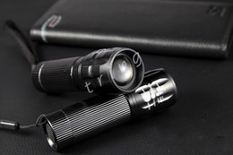 Wholesale Cree Led Flashlight 3w - Mini LED Flashlight 3W CREE Q5 Aluminum Alloy Zoomable Adjustable Led Handy Outdoor Waterproof Flashlight Torch For Sporting Camping Hiking