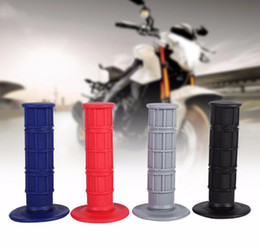 "Wholesale Suzuki Motorcycle Dirt Bike - Handle Grip 22mm 7 8"" Silicone Soft Handle Bar Hand Grips for Pit Dirt Bike Motorcycle Black Handle Bar Hand Grips Handlebar"