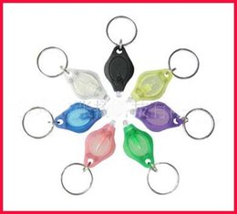 Wholesale Bright Keychains - Thumb LED Light Keychain Portable High Bright Hand-Pressing Flashlight 7colours-bestdeal