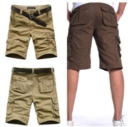 Wholesale Wool Shorts Plus Size - Summer Mens joggers shorts Army Cargo Work Casual bermuda masculina pockets Shorts Sports Overall Squad Match Trousers Plus size A2