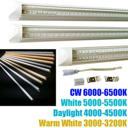 Wholesale Led Tubes - V-Shape 8ft led tube lights T8 Integrated cooler door design shop LED lights fixture 2ft 3ft 4ft 5ft 6ft 3000K 4000K 5000K 6000K