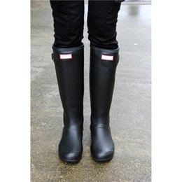 Wholesale Low Heel Womens Shoe - Womens Rainshoes Wellies Wellingtons Wellington Rain Boot Welly Waterproof Knee Boots Rainboots Rain Boots Glossy Matte Shoes Galoshes