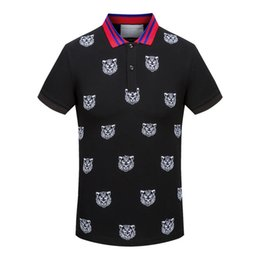 Wholesale Mens Designer Shirts For Men - 18 New Italy Luxury Brand polo shirt T-shirt High street embroidery t shirts for men Snake Bee Tiger polo shirt Mens Designer polo