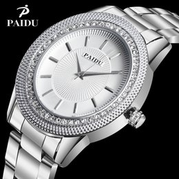 Wholesale Paidu Brand - 2017 Luxury Brand Paidu Watch Fashion Elegant Crystal Steel Quartz Watch Women Lady Hour relogio feminino Hot Sale Wristwtaches
