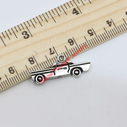 Wholesale Vintage Antique Cars - Vintage Antique Silver Plated Truck Car Charms Beads Pendants for Jewelry Making DIY 11x28mm D101 Jewelry making DIY