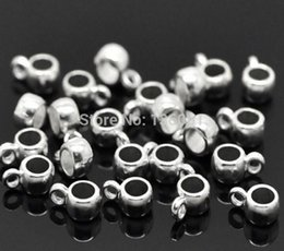 Wholesale European Bead Bails - 500PCs Vintage Silvers Bail Cup Spacer Beads Hanger Charms Pendant For DIY Bracelet Necklace Earrings Jewelry Making Findings Handcraft X287