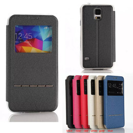 Wholesale Galaxy S3 View Cover - Flip Window View Leather Smart Key Stand Cover Case For Samsung Galaxy S3 S4 S5 S6 S6 Edge Plus Note 4 Note 5