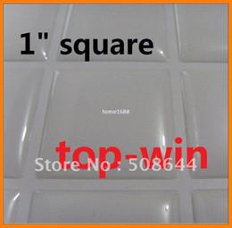 Wholesale Epoxy Resin Sticker Inch - 1 inch Square Resin Epoxy Sticker fit Tray Pendant 25mm free shipping 105pcs