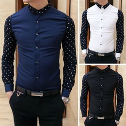 Wholesale Men Casual Shirts White - Brand new summer Men Shirt Long Sleeve Fashion Casual Men's Shirts Business Dress shirts white XXL