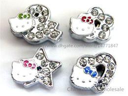 Colliers pour animaux de compagnie de 8 mm en Ligne-10pcs 8mm glissières mixtes Fit Pet Dog Cat Tag Collar Wristband
