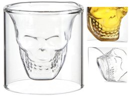 Wholesale Crystal Skulls For Sale - Wholesale-Hot Sale Creative Crystal Skull Head Glass Cup Drinking Ware for Party Home and Bar 2015