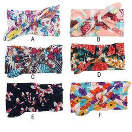 Wholesale Western Hair Headbands - girls hair accessories Floral western girls headband newborn Girls' Flower bow headband for kids knot birthday headband