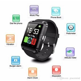 Wholesale Bluetooth For Note2 - Bluetooth smart watch Wrist smartWatch for Samsung S4 Note2 3 HTC LG Xiaomi Android Apple Phone Smartphones U8
