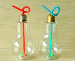 500 ml de Plástico LEVOU Lâmpada De Incêndio De Leite Bebida Garrafas De Água De Suco De Casamento Festival Decoração Bar de