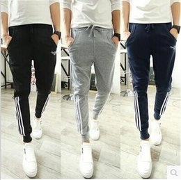 Wholesale British Style Jumpsuit - Free Shipping Hot sell 2015 new men pants hip hop sports wear slim fit jumpsuit men casual british style sweatpants trousers man