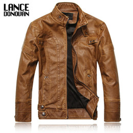Wholesale Leather Jacket Chinese - Wholesale- Plus Velvet Chinese Brand Motorcycle PU Leather Jackets Men 2016 New arrived Autumn Winter Business casual fashion coats